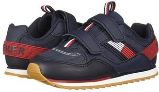 Tommy Hilfiger Jax Jogger Alt (Toddler) (Navy Ballistic Nylon/Tumbled) Kid's Shoes