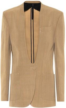 Petar Petrov Jaclyn silk-blend collarless blazer