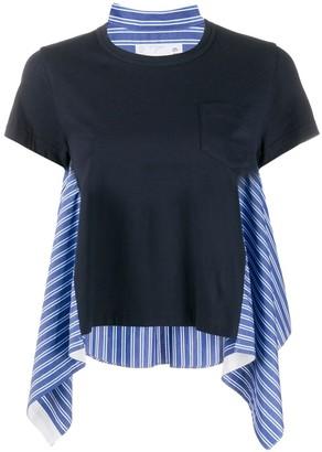 Sacai striped sides T-shirt