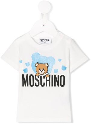 MOSCHINO BAMBINO Teddy Bear logo T-shirt