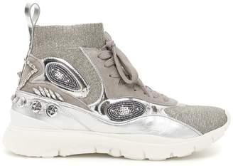 Valentino Garavani Embroidered Hi Top Sock Sneakers