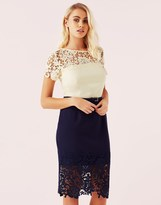 Paper Dolls Lace Crochet Detail Dress