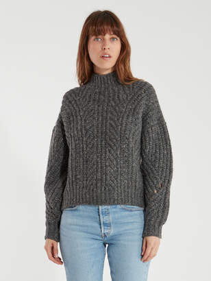 IRO Venati Mock Neck Metallic Thread Sweater