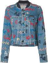 Grey Jason Wu printed denim jacket
