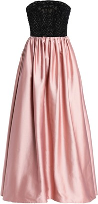 Valentino Strapless Embellished-tulle Cotton And Silk-blend Gown
