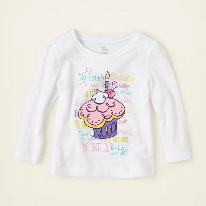 Children's Place Birthday cupcake graphic tee