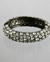 hematite oval crystal studded bangle