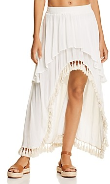 Surf.Gypsy Tassel High/Low Skirt Swim Cover-Up