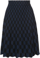 Akris Punto geometric pattern skirt - women - Polyester/Viscose - 4