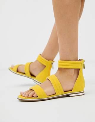 Blink strap flat sandals-Yellow