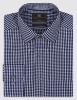 Marks and Spencer Cotton Blend Easy to Iron Checked Shirt
