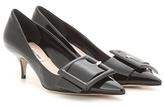 Miu Miu Patent Leather Kitten-heel Pumps