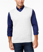 Club Room Men's Big and Tall Cable-Knit Sweater Vest