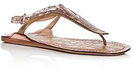 Chloé Women's Carla Mixed Pattern Slingback Thong Sandals