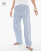 Chico's Linen Striped Wide-Leg Pants