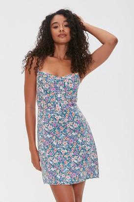 Forever 21 Floral Print Crisscross Dress
