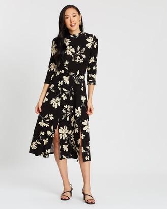 Dorothy Perkins Large Floral Split Midi Dress