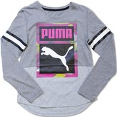 Puma Girls Tail Hem V-Neck Top