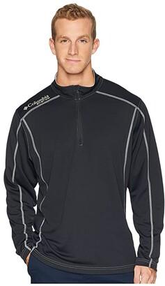 Columbia Low Drag 1/4 Zip Top (Black) Men's Long Sleeve Pullover