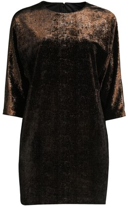 Aidan Mattox Shimmer Velvet Mini Dress