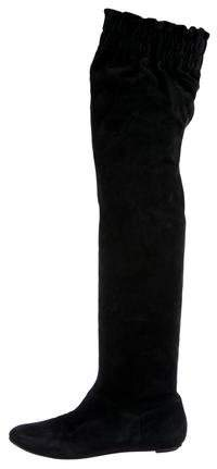 Dolce & Gabbana Suede Over-The-Knee Boots