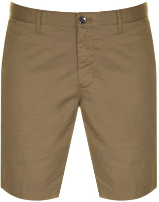 Michael Kors Washed Cotton Shorts Brown