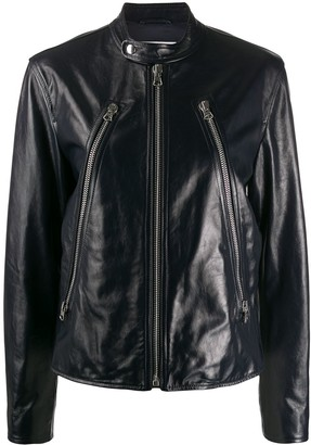MM6 MAISON MARGIELA Collarless Leather Jacket