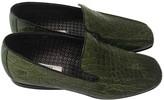 Prada Green Crocodile Flats