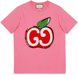 Gucci T-shirt with GG apple print