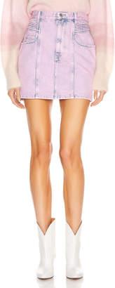 Etoile Isabel Marant Hondo Skirt in Neon Pink | FWRD