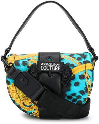 Versace animal baroque print shoulder bag