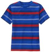 Gymboree Blue & Red Stripe Jersey Short-Sleeve Tee - Boys