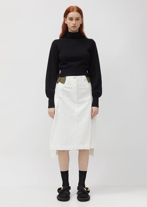Sacai Denim & Taffeta Skirt