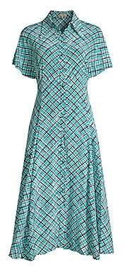 Michael Kors Women's Dolman Silk Shirtdress