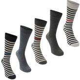 Soviet Contrast Stripe Socks