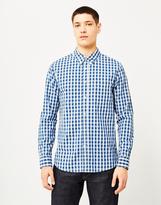 Lee 101 Buttoned Down Indigo Check Shirt Blue