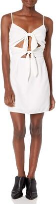 J.o.a. Women's Tie Front Cut-Out Mini Dress