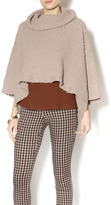 Romeo & Juliet Couture Nude Crop Poncho