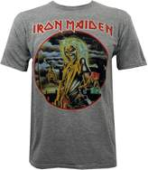 Global Iron Maiden Men's Killers Slim-Fit T-Shirt Heather Grey M