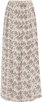 Tory Burch Melia printed silk maxi skirt
