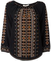 Tory Burch embroidered tunic - women - Silk/Polyester - 0