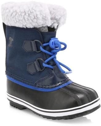 Sorel Kid's Yoot Pac Waterproof Faux Shearling-Trim Boots