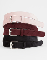 Full Tilt 3 Pack Velvet Belts