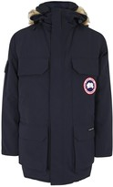 Canada Goose Expedition Navy Fur-trimmed Twill Parka