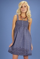 Flying Tomato Embroidered Chambray Dress