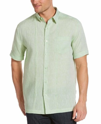 Cubavera Textured One-Pocket Pin-Tuck Linen Shirt