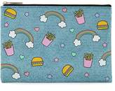 Forever 21 Cheeseburger Print Makeup Pouch