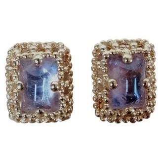 Saint Laurent Purple Glass Earrings