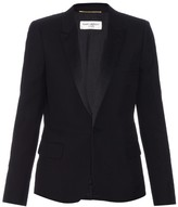 Saint Laurent Satin-lapel wool-twill blazer