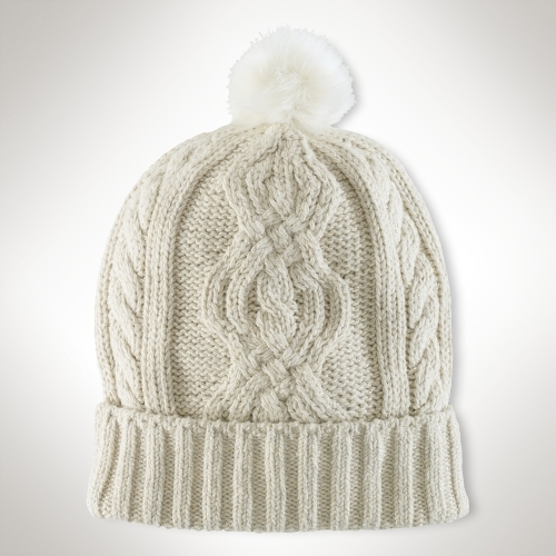 Ralph Lauren Metallic Cable Pom Hat